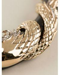 Roberto Cavalli - Metallic Swarovsky Horses Necklace - Lyst