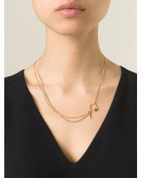 Puro Iosselliani - Metallic Garnet Ring Tangled Necklace - Lyst