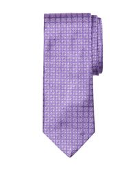 Brooks Brothers | Purple Tonal Four-petal Flower Tie for Men | Lyst
