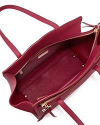 Ferragamo - Red Amy Gancini Small Shopper Tote Bag - Lyst