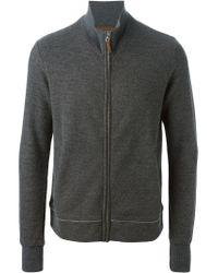 Eleventy | Gray Zip Front Cardigan for Men | Lyst