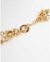 ALDO - Metallic Nydeiria Multirow Tassel Necklace - Lyst