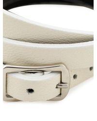 McQ - White Razor Blade Triple Wrap Bracelet - Lyst