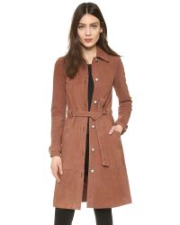 Elizabeth and James | Brown Whitley Suede Coat | Lyst