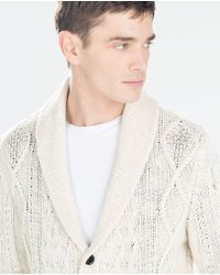 Zara | Natural Structured Shimmer Jacket for Men | Lyst