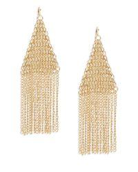 Panacea - Metallic Goldtone Mesh And Chain Chandelier Earrings - Lyst