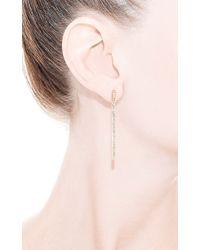 Maiyet - Metallic Baguette Bar Long Earrings - Lyst