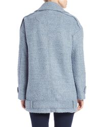 Vince Camuto | Blue Asymmetrical Pea Coat | Lyst