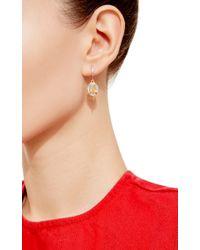 Genevieve Jones - Metallic Paradisa Earrings Fire Opal And White Sapphire Drop Earring In Antique Setting - Lyst