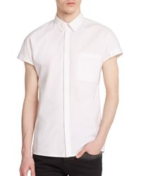 Helmut Lang | White Cotton Cap-sleeved Shirt for Men | Lyst