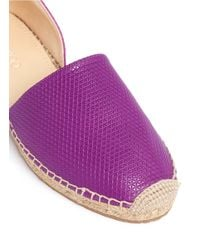 Jimmy Choo | Purple Dreya Suede and Leather Espadrilles | Lyst