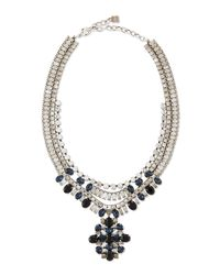 DANNIJO | Blue Mikhail Jet Crystal Necklace | Lyst