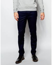 ASOS | Blue Slim Suit Trousers In Navy - Navy for Men | Lyst