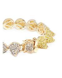 Eddie Borgo - Metallic Crystal Pavé Small Cone Bracelet - Lyst