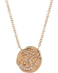 Sara Weinstock | Metallic Diamond Rose Gold Lotusom Scapular Necklace | Lyst