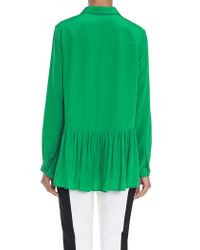 Tibi Green Silk Aline Blouse