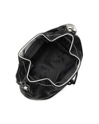 Calvin Klein - Black White Label Madeline Drawstring Bucket Bag - Lyst