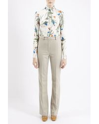 TOPSHOP - Natural Inverness Melton Wool Pants By Unique - Lyst
