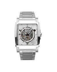Bulova | Metallic Men'S Stainless Steel Bracelet Watch 45Mm 96A107 for Men | Lyst