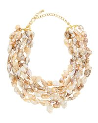Kenneth Jay Lane | Multicolor Multi-strand Mother-of-pearl Necklace | Lyst