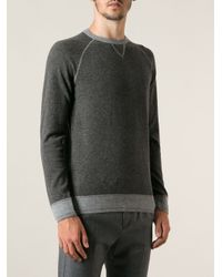 Moncler - Gray Twotone Jumper for Men - Lyst