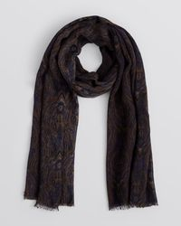 Bloomingdale's - Green Paisley Print Scarf for Men - Lyst