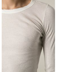 Rick Owens - White Draped T-Shirt for Men - Lyst