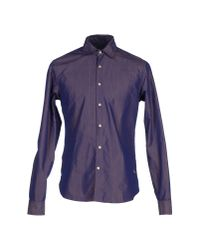 Scotch & Soda - Purple Shirt for Men - Lyst