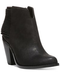 Carlos By Carlos Santana | Black Everett Ankle Booties | Lyst