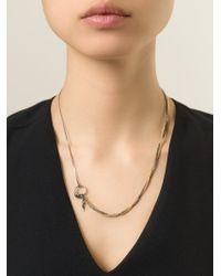 Puro Iosselliani | Metallic Sapphire Ring Tangled Necklace | Lyst