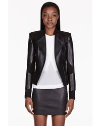 Dion Lee - Black Leather 3d Filter Cut Out Jacket - Lyst