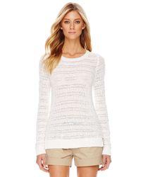 Michael Kors | White Michael Tape Yarn Knit Sweater | Lyst