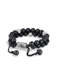 David Yurman | Metallic Spiritual Beads Two-row Bracelet With Diamonds for Men | Lyst