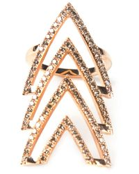 Elise Dray - Pink Triple Arrow Ring - Lyst