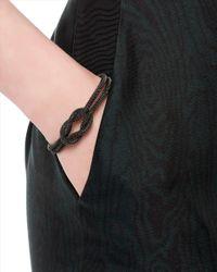 Jaeger - Gray Knot Top Torque Bracelet - Lyst