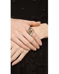 Alexis Bittar - Metallic Mosaic Crystal Studded Stacking Ring - Lyst