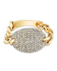 Anne Sisteron - Metallic 14kt Yellow Gold Diamond Bean Ring - Lyst