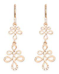 Frederic Sage - Metallic Eloise 18k Pink Gold Diamond Earrings - Lyst