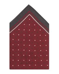 BOSS - Red 'pocket Square 33 X 33'   Wool Printed Pocket Square for Men - Lyst