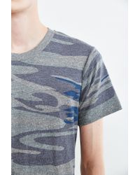 Alternative Apparel - Blue Camo Crew Neck Tee for Men - Lyst