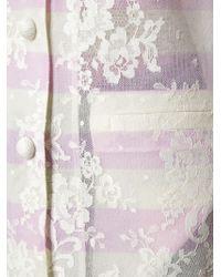 Ermanno Scervino - Multicolor Lace Overlay Cardi-coat - Lyst