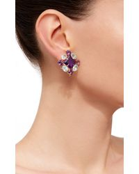 Bounkit | Purple Convertible Blue Quartz And Amethyst Earrings | Lyst