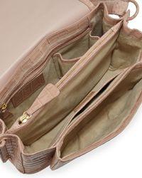 Nancy Gonzalez - Natural Small Crocodile Cross-Body Bag - Lyst