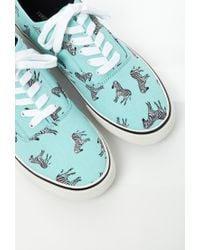 Forever 21 - Green Zebra Print Canvas Sneakers - Lyst