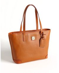 Dooney & Bourke | Brown Pebble Leather Charleston Shopper | Lyst