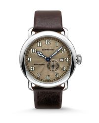 Szanto - Brown Automatic Classic Stainless Steel Watch for Men - Lyst