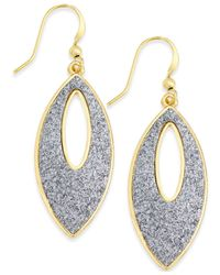 Style & Co. | Metallic Glitter Navette Drop Earrings | Lyst