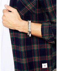 Simon Carter - Gray Skull Beaded Bracelet Pack Exclusive To Asos for Men - Lyst