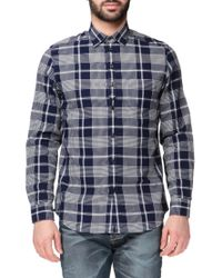 DIESEL | White Long Sleeve Check Shirt for Men | Lyst