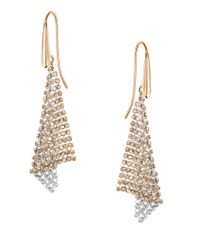 Swarovski | Metallic Crystal Mesh Drop Earrings | Lyst